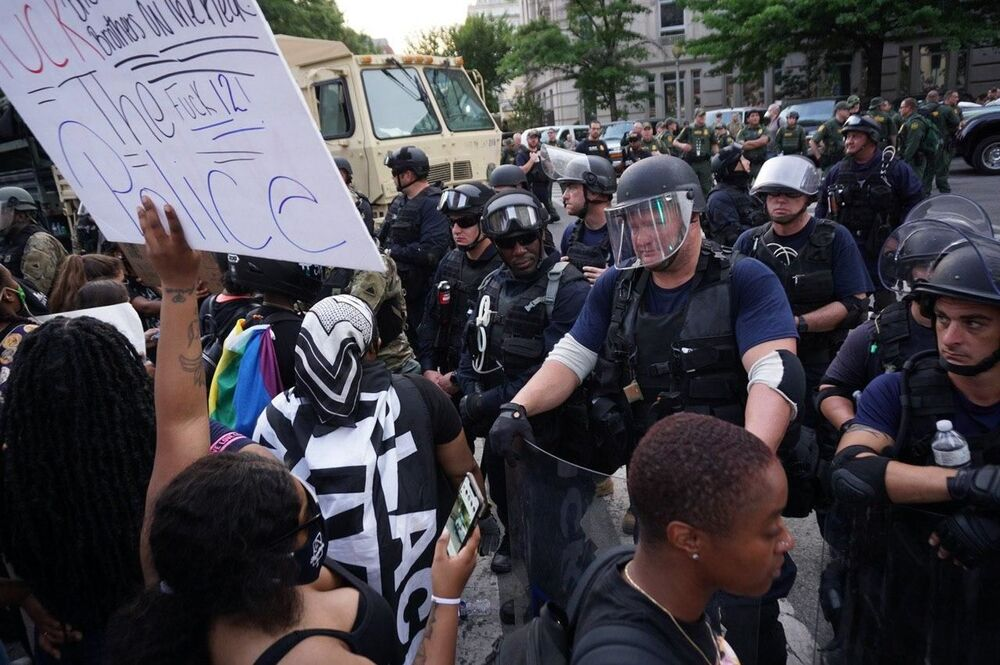 George Floyd Murder: Sixth Day of Protests in Washington DC in Pictures
