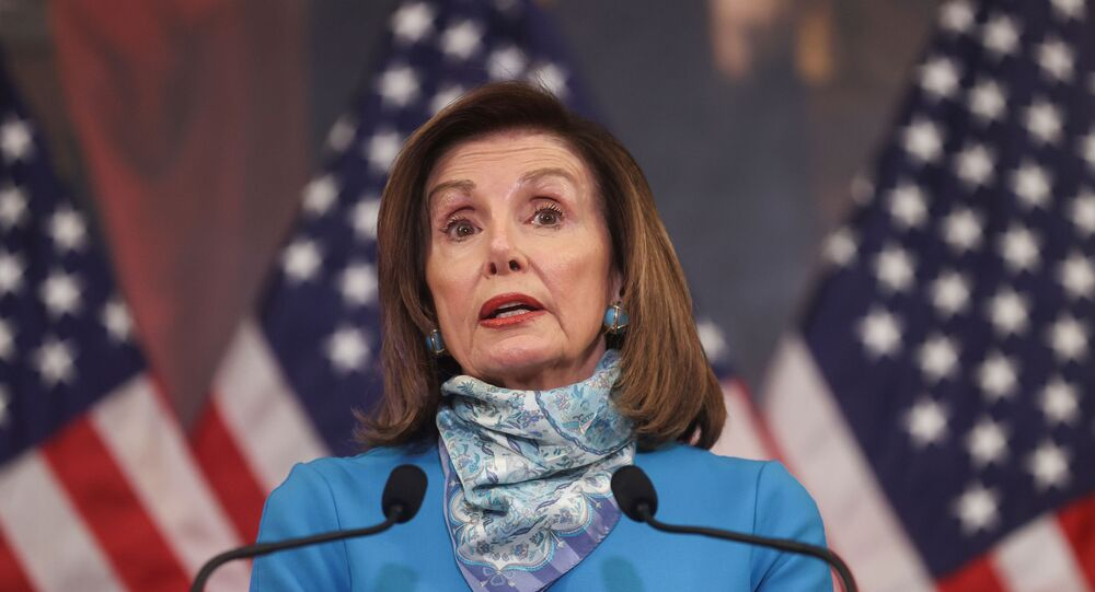 U.S. House Speaker Nancy Pelosi (D-CA) speaks about the coronavirus response during her weekly news conference with Capitol Hill reporters in Washington U.S., May 7, 2020.