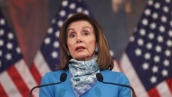 U.S. House Speaker Nancy Pelosi (D-CA) speaks about the coronavirus response during her weekly news conference with Capitol Hill reporters in Washington U.S., May 7, 2020.  - Sputnik International