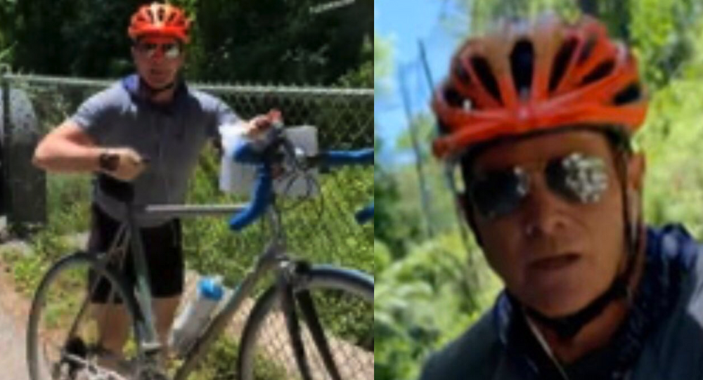 Cyclist who confronted youngsters posting US racial injustice flyers arrested
