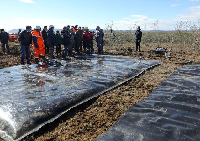 Oil spill response in Norilsk