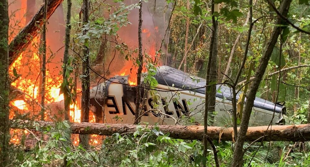 Photo of small plane crashed in rural Georgia, 6 June 2020