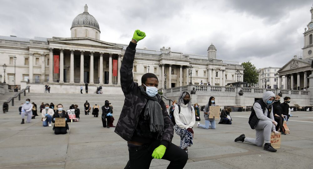 People in London Protest Against Police Brutality Following George Floyd's Death