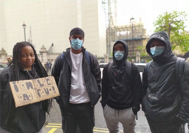 Saul, 17, student from north London (second from the left)