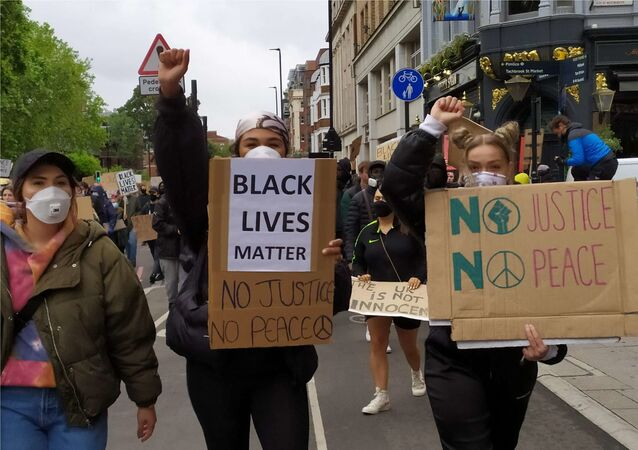 No Justice, No Peace protest in London 6 June 2020