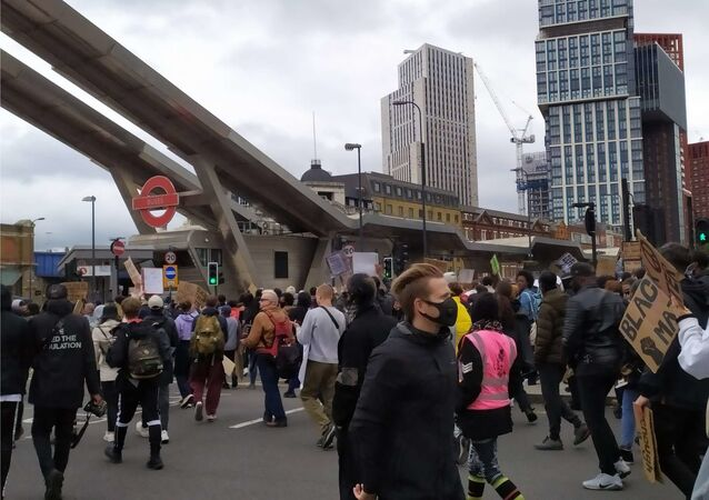 People take part in 'Black Lives Matter' march in London