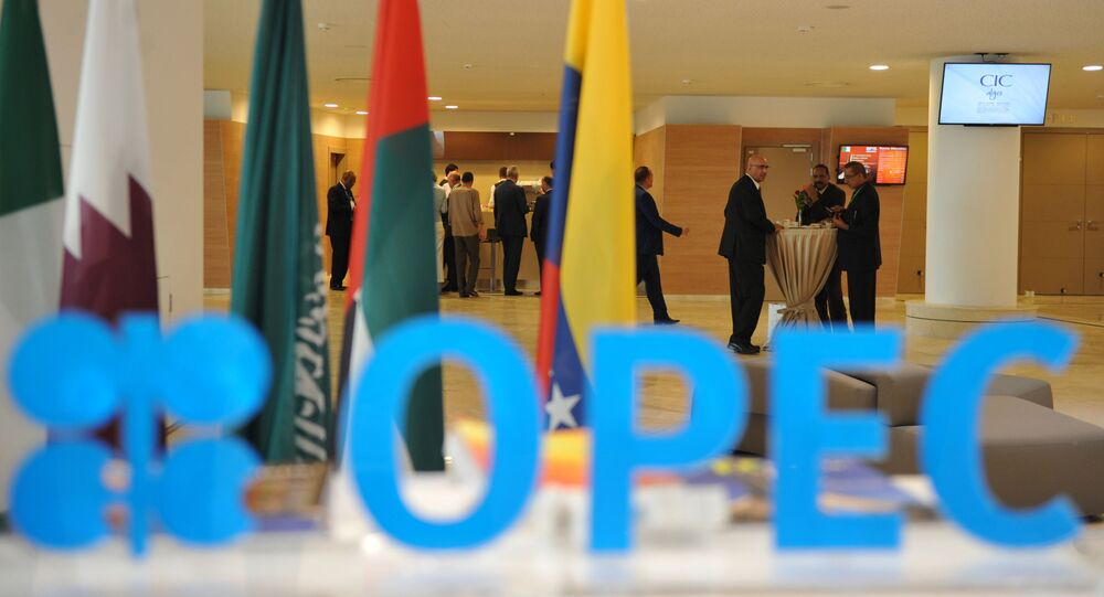 Participants attend the opening session of the 15th International Energy Forum in Algiers on September 27, 2016.