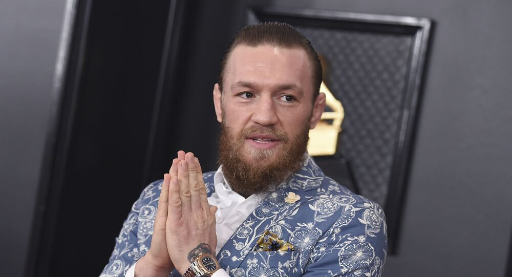 Conor McGregor arrives at the 62nd annual Grammy Awards at the Staples Center on Sunday, 26 January 2020, in Los Angeles.