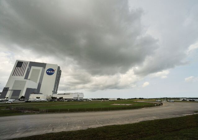 Weather over Cape Canaveral as SpaceX Falcon 9 rocket and Crew Dragon spacecraft carrying NASA astronauts Douglas Hurley and Robert Behnken waits to lift-off for NASA's SpaceX Demo-2 mission to the International Space Station from NASA's Kennedy Space Center in Cape Canaveral, Florida, U.S.  May 30, 2020.