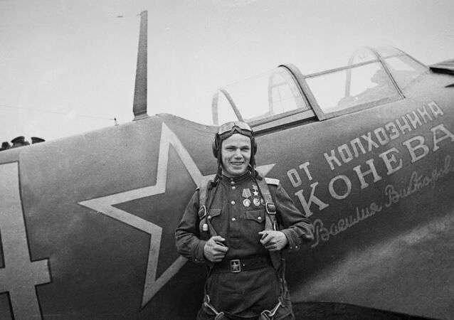 Hero of the Soviet Union, pilot Ivan Kozhedub
