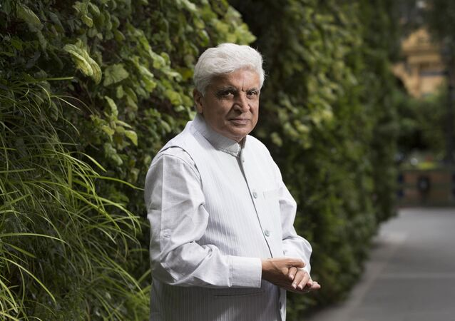 Indian Poet and screenwriter, Javed Akhtar, poses for portraits at the Taj hotel in central London, Wednesday, July 12, 2017