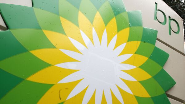 FILE - In this Oct. 25, 2007 file photo, the BP (British Petroleum) logo is seen at a gas station in Washington. BP will spend $7 billion to buy exploration rights to areas in the Gulf of Mexico, offshore Brazil and Canada owned by Devon Energy - Sputnik International