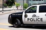 A view shows a Buffalo Police vehicle parked in front of the city hall before a protest against the death in Minneapolis police custody of George Floyd, in Niagara Square, in Buffalo, U.S., June 5, 2020