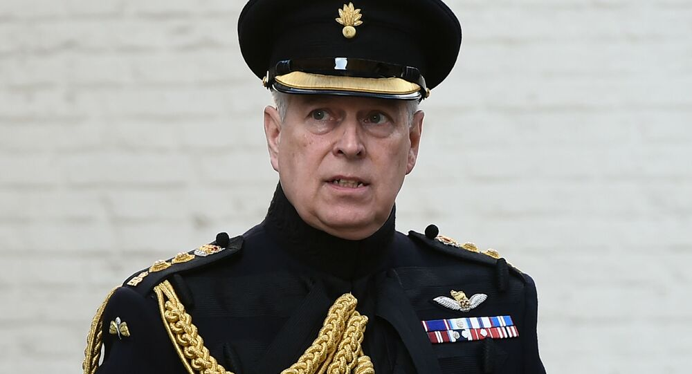 (FILES) In this file photo taken on September 07, 2019 Britain's Prince Andrew, Duke of York, attends a ceremony commemorating the 75th anniversary of the liberation of Bruges, in Bruges