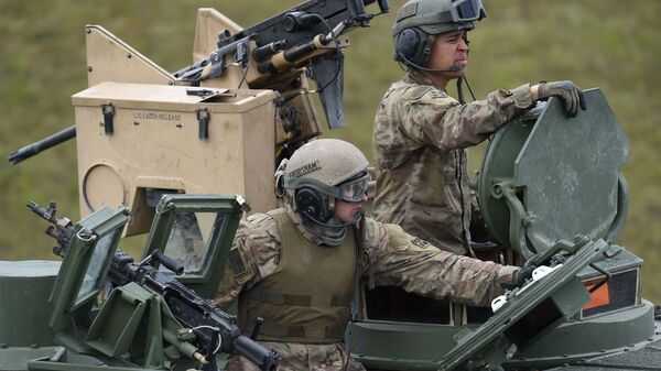 US soldiers at the exercise area in Grafenwoehr, Germany - Sputnik International