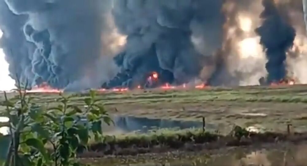 A massive fire erupted in Oil India limited oil well