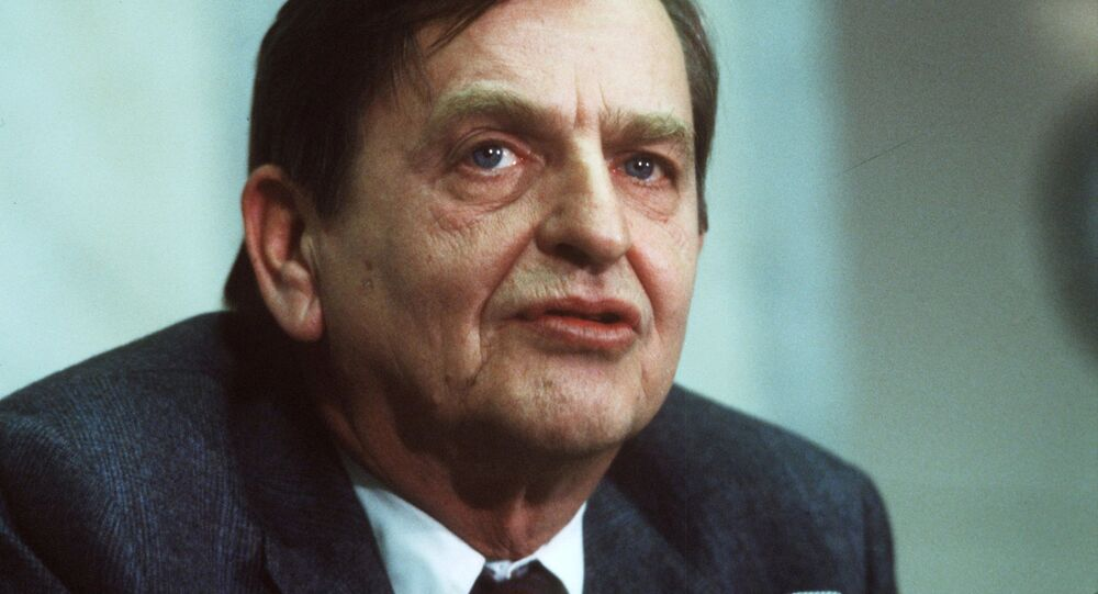 Swedish politican and Prime minister Olof Palme photographed December 12, 1983. Picture taken December 12, 1983