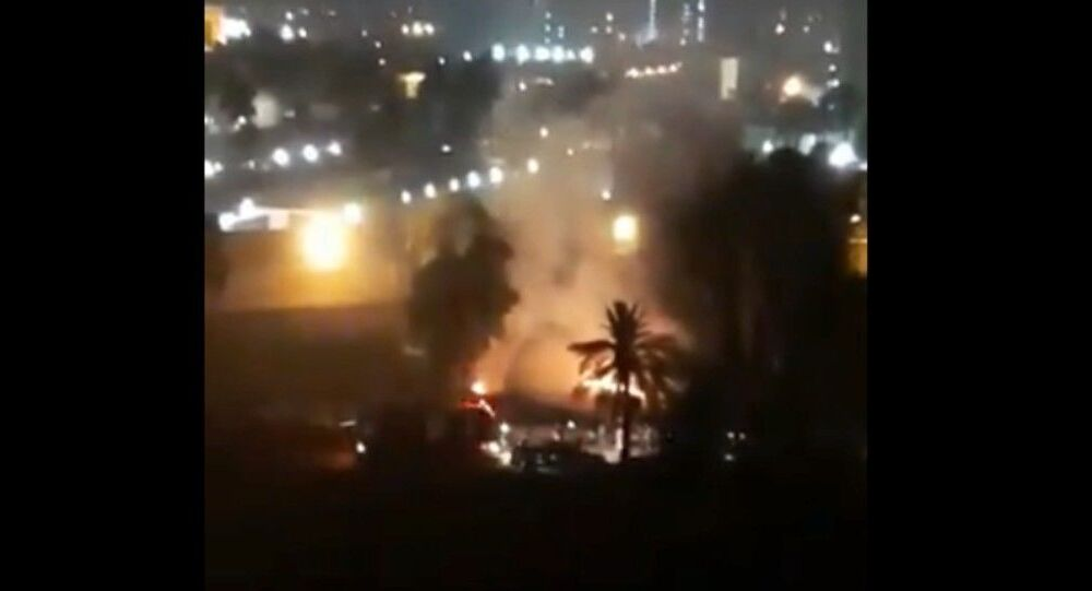 More footage shows the aftermath of Katyusha attack on #GreenZone, #Baghdad.