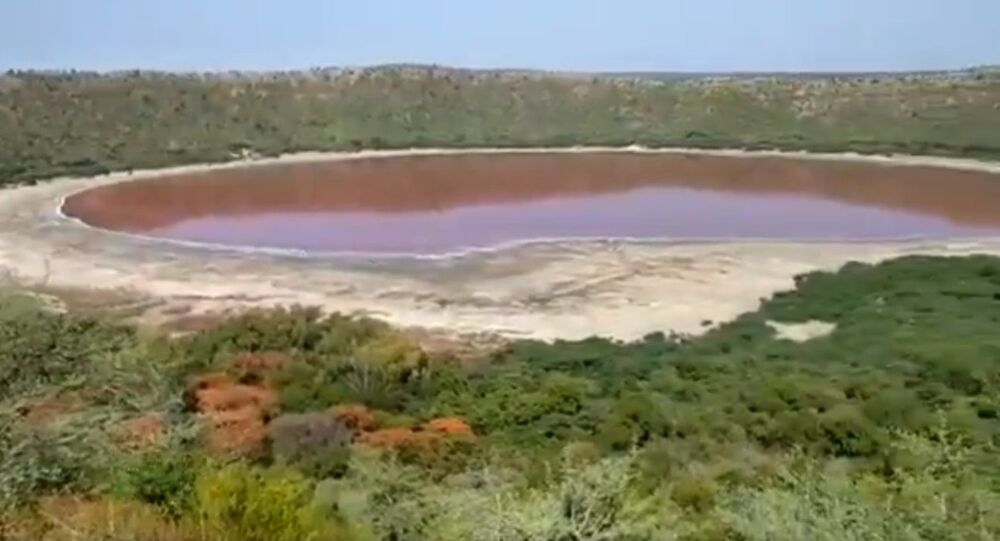 Maharashtra's Lonar Lake mysteriously turns pink