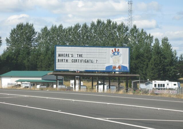 Uncle Sam Billboard in Washington state