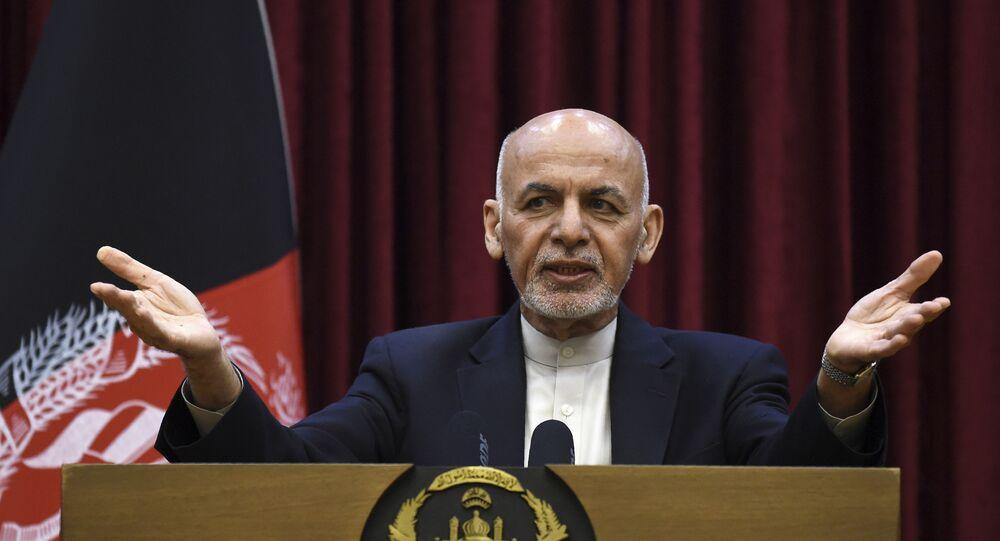 Afghan President Ashraf Ghani at the Presidential Palace in Kabul