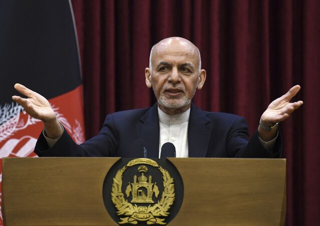 Afghan President Ashraf Ghani at the Presidential Palace in Kabul