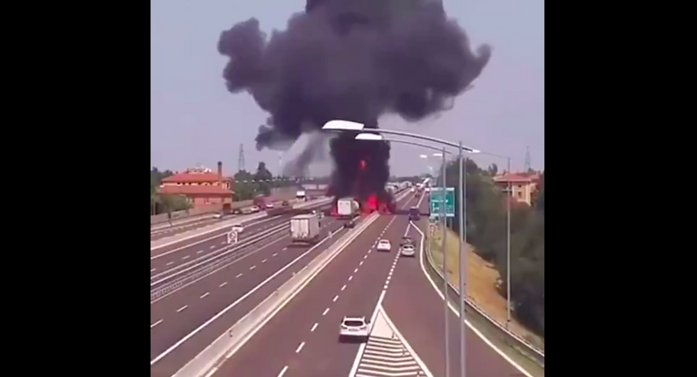 Oil tank truck explosion in China, 13 June 2020