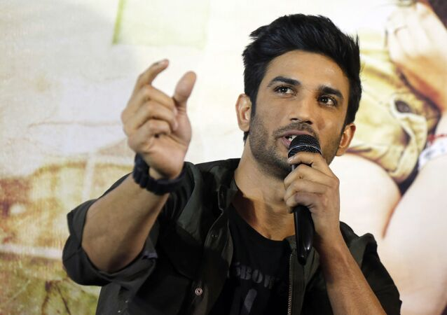 Bollywood actor Sushant Singh Rajput speaks during a press conference to promote his upcoming movie Raabta in Ahmadabad, India, Tuesday, May 30, 2017. The film is schedule to be released on June 9.