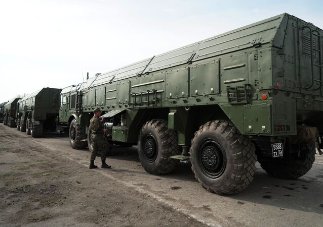 Iskander missile launchers in Russia's Kaliningrad. File photo.