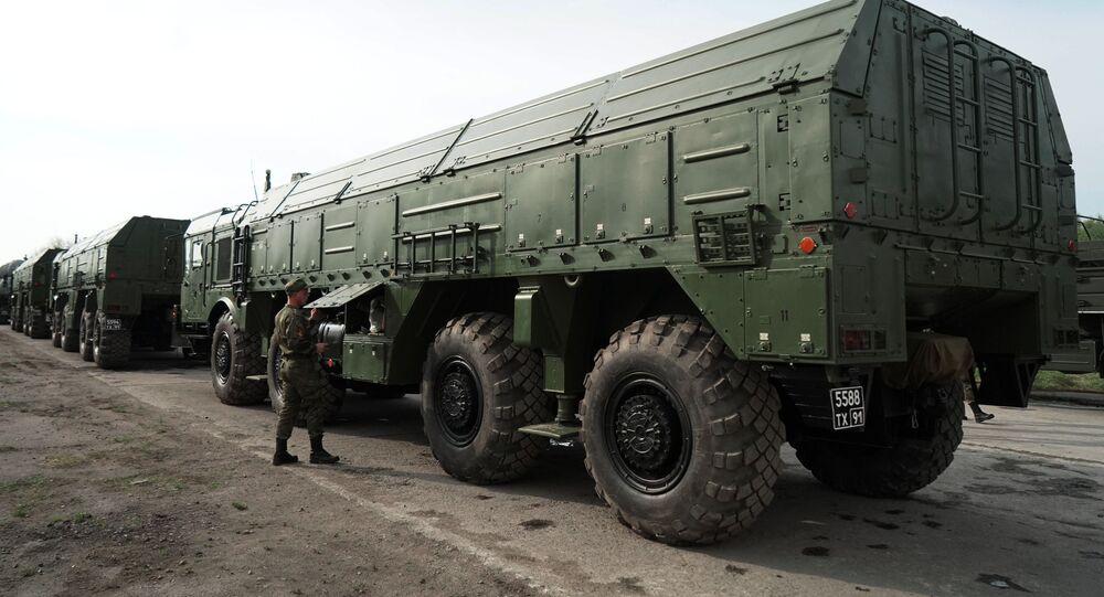 Iskander missile launchers in Russia's Kaliningrad. File photo.