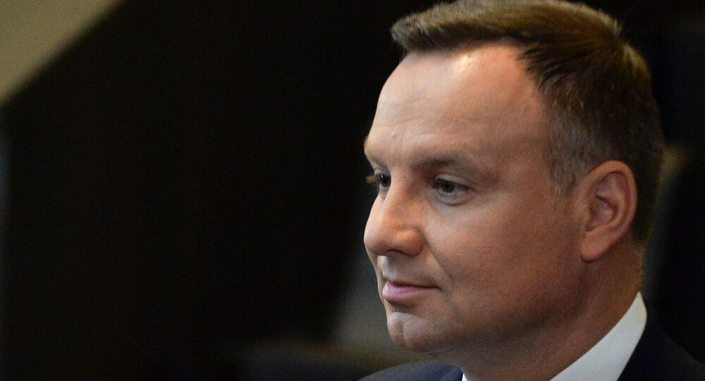 President of Poland Andrzej Duda at the NATO summit of heads of state and government, Brussels.
