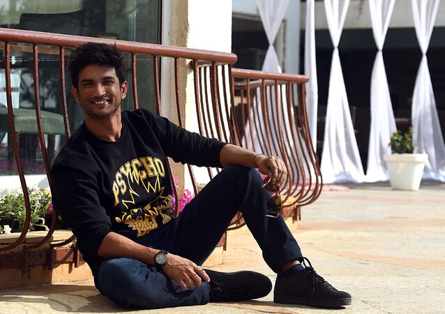 (FILES) In this file photo taken on January 7, 2019 Indian Bollywood actor Sushant Singh Rajput poses for a picture during the promotion of the upcoming Hindi film Sonchiraiya, in Mumbai