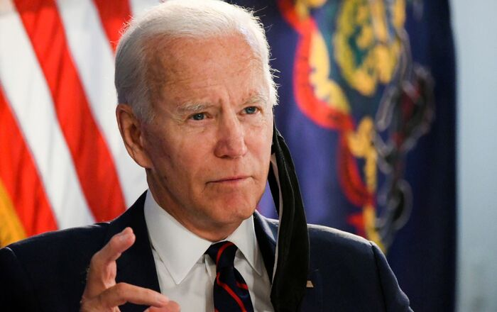 Democratic U.S. presidential candidate and former Vice President Joe Biden speaks at a campaign event devoted to the reopening of the U.S. economy during the coronavirus disease (COVID-19) pandemic in Philadelphia, Pennsylvania, U.S., June 11, 2020