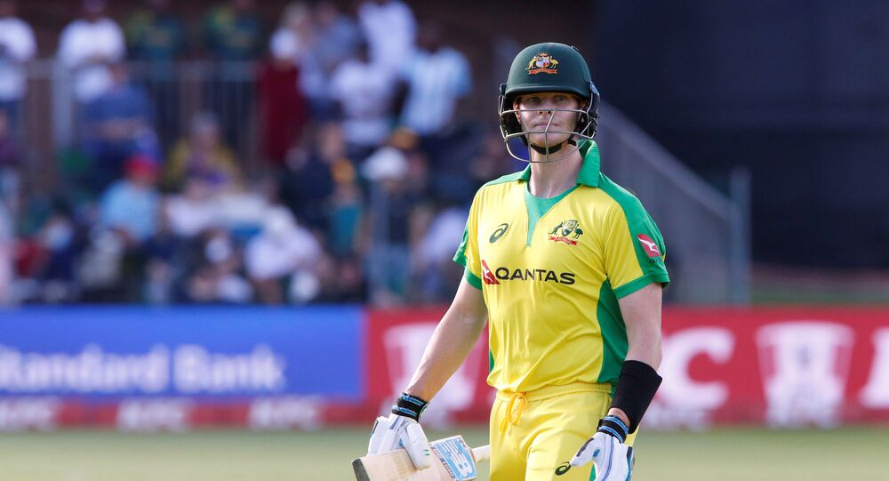 Cricket - South Africa v Australia - Second T20 - St George's Park, Port Elizabeth, South Africa - February 23, 2020   Australia's Steve Smith leaves the field after losing his wicket
