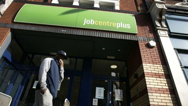 A man seen outside a job centre, in west London (File) - Sputnik International