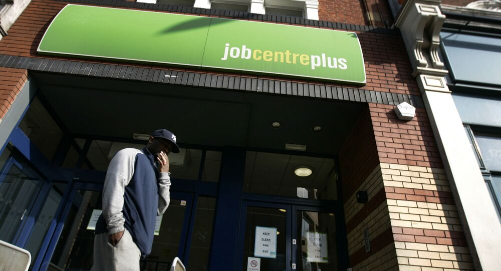 A man seen outside a job centre, in west London (File)