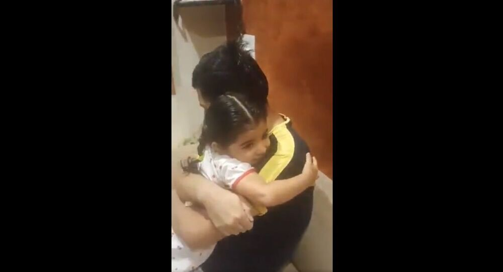 An Army Officer's homecoming after a few months
