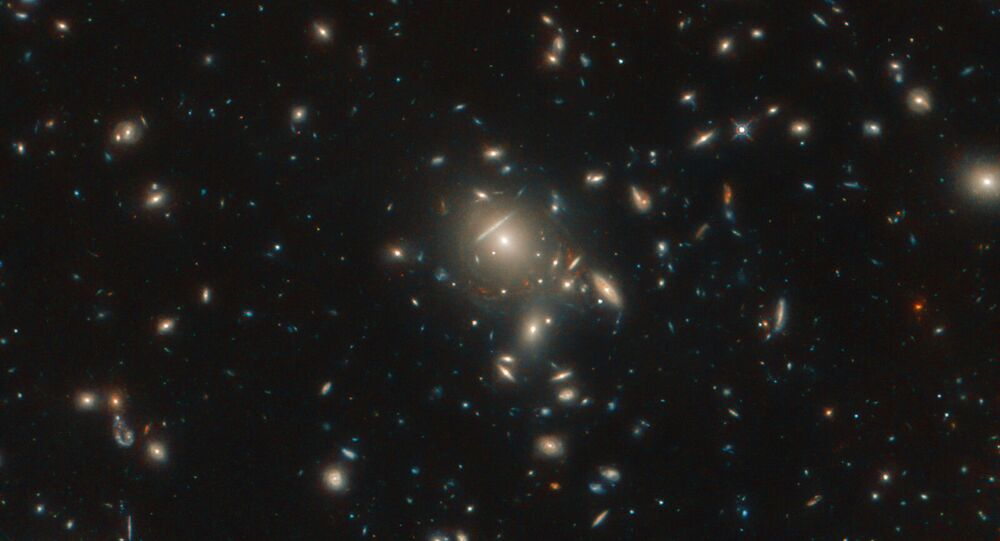 Seen here in incredible detail, thanks to the NASA/ESA Hubble Space Telescope, is the starburst galaxy formally known as PLCK G045.1+61.1.