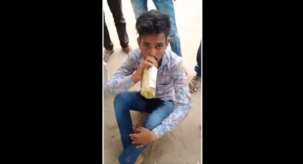 Video of a man forced to drink urine goes viral