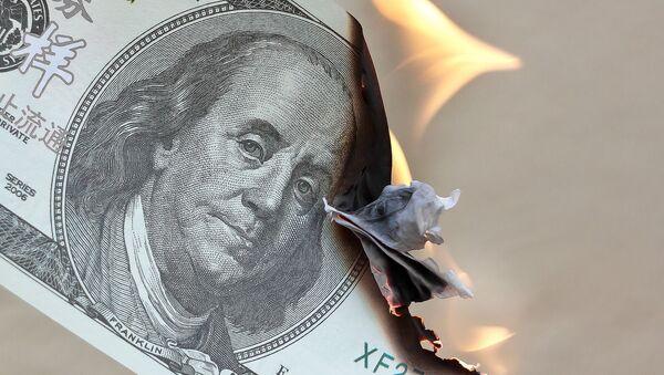 Burning dollar - Sputnik International