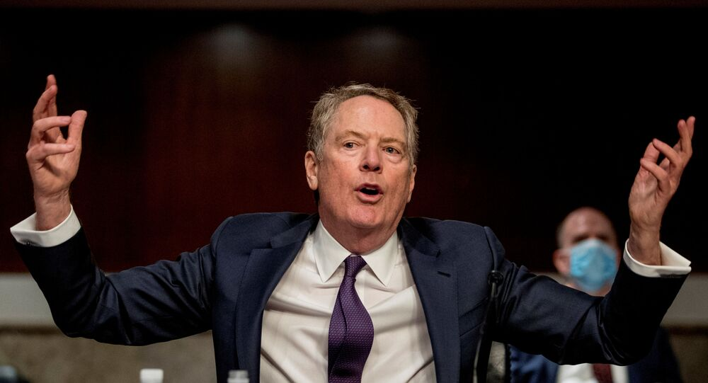 U.S. Trade Representative Robert Lighthizer speaks at a Senate Finance Committee hearing on U.S. trade on Capitol Hill in Washington, D.C., U.S., June 17, 2020