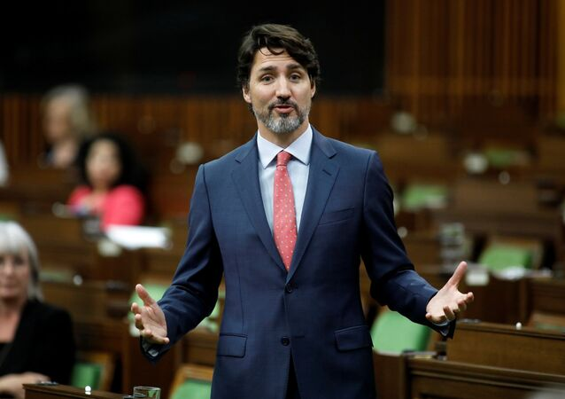 Canada's Prime Minister Justin Trudeau speaks during a meeting of the special committee on the COVID-19 pandemic, as efforts continue to help slow the spread of the coronavirus disease (COVID-19), in the House of Commons on Parliament Hill in Ottawa, Ontario, Canada June 16, 2020.