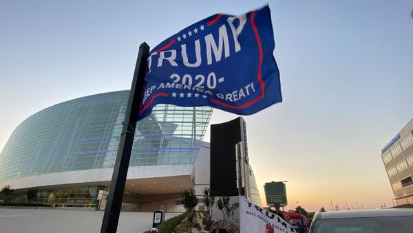 Supporters of U.S. President Donald Trump camp outside the BOK Center, the venue for his upcoming rally, in Tulsa, Oklahoma, U.S. June 17, 2020 - Sputnik International