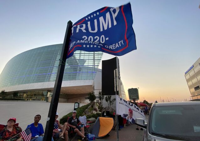 Supporters of U.S. President Donald Trump camp outside the BOK Center, the venue for his upcoming rally, in Tulsa, Oklahoma, U.S. June 17, 2020