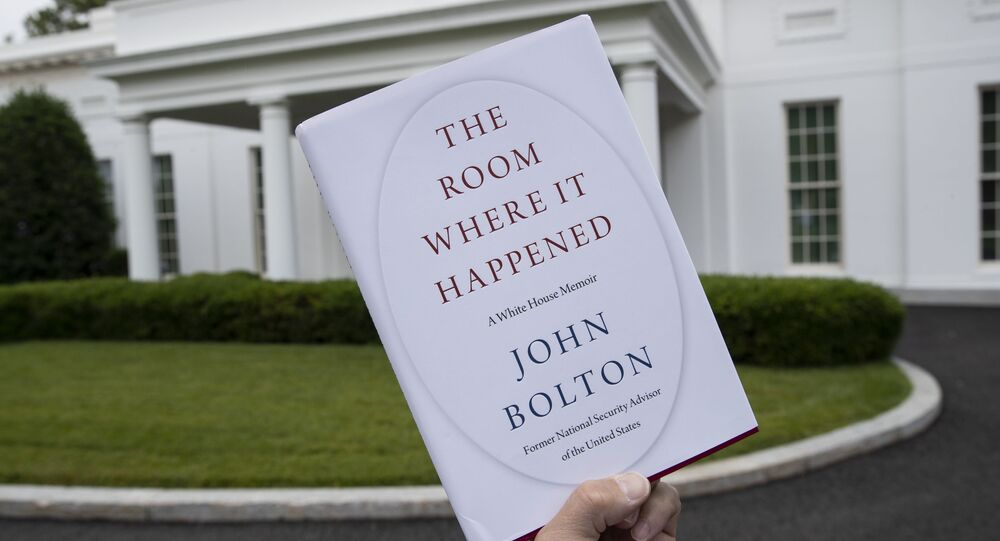 A copy of The Room Where It Happened, by former national security adviser John Bolton, is photographed at the White House, Thursday, June 18, 2020, in Washington