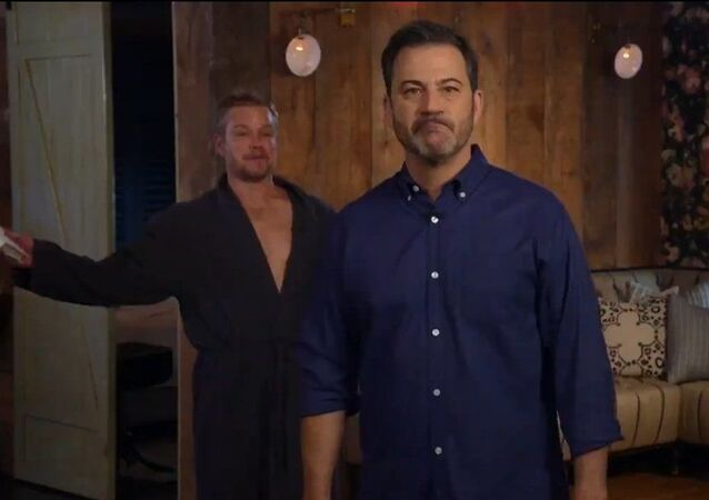 Screenshot of the video An Unwanted Visit from the Demon Matt Damon on Jimmy Kimmel Live