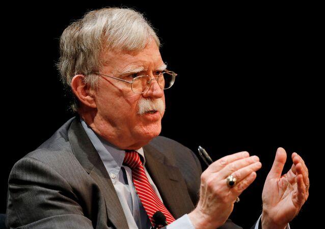 Former U.S. national security advisor John Bolton speaks during a lecture at Duke University in Durham, North Carolina, U.S. February 17, 2020