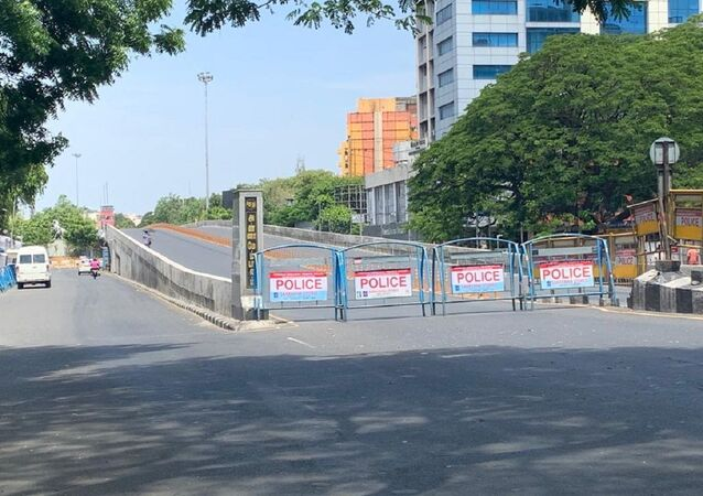 Scenes from the 'complete lockdown' in Chennai. Anna flyover closed