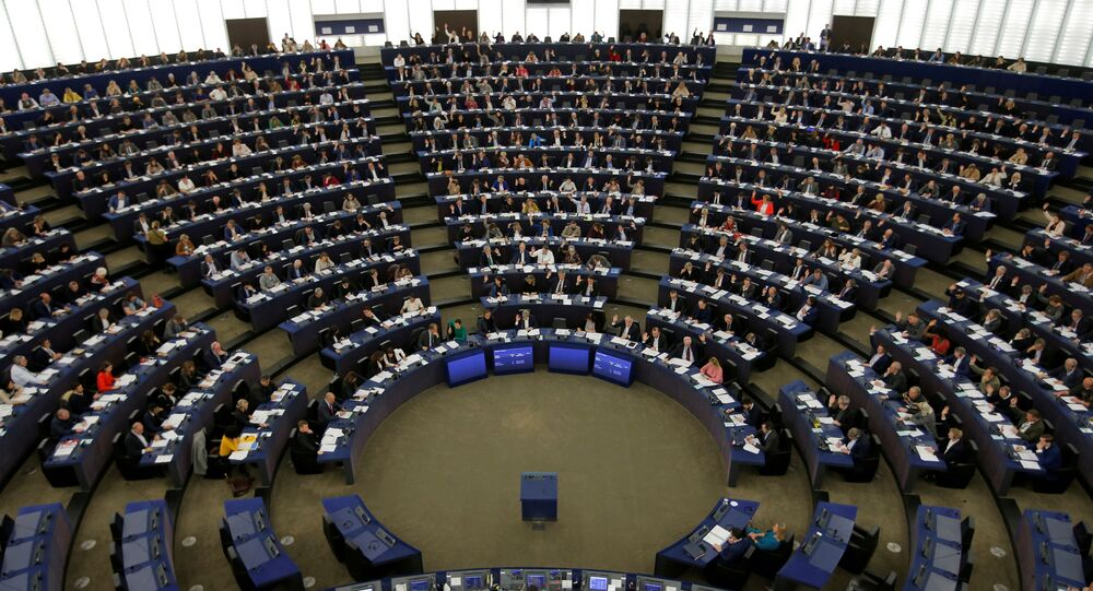 Members of the European Parliament take part in a voting session in Strasbourg, France, November 28, 2019.