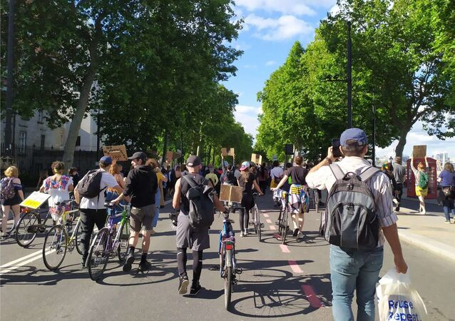 Protesters deviate from intended destination marching towards Trafalgar Square